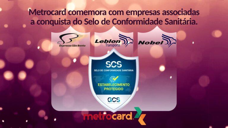 Metrocard comemora com empresas associadas a conquista do Selo de Conformidade Sanitária